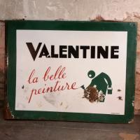 2 plaque emaillee valentine