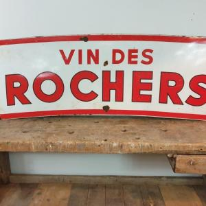 2 plaque emaillee vin des rochers