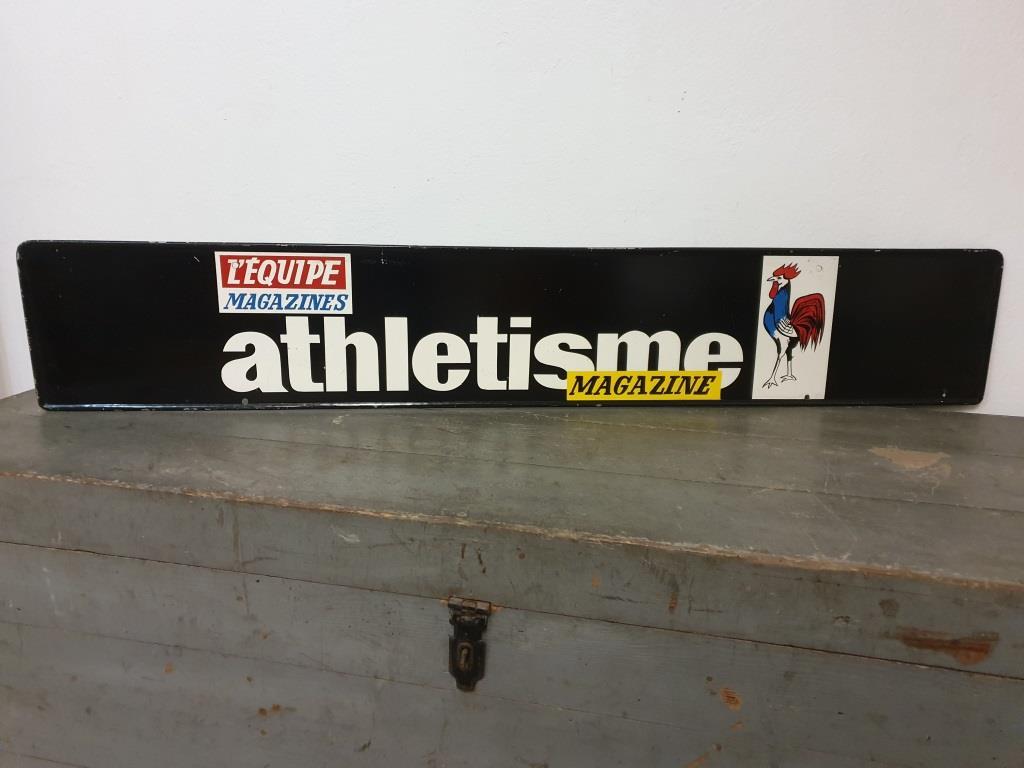 2 plaque publicitaire l equipe
