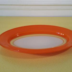 2 plat oval orange