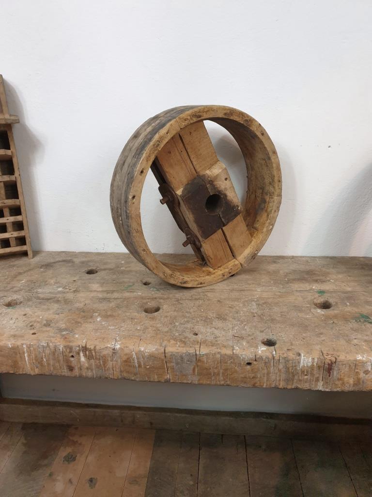 2 poulie bois largeur 10