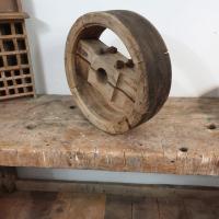 2 poulie en bois largeur 12