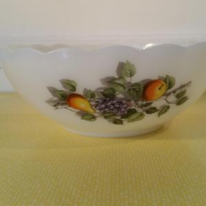 2 saladier arcopal blanc fruits