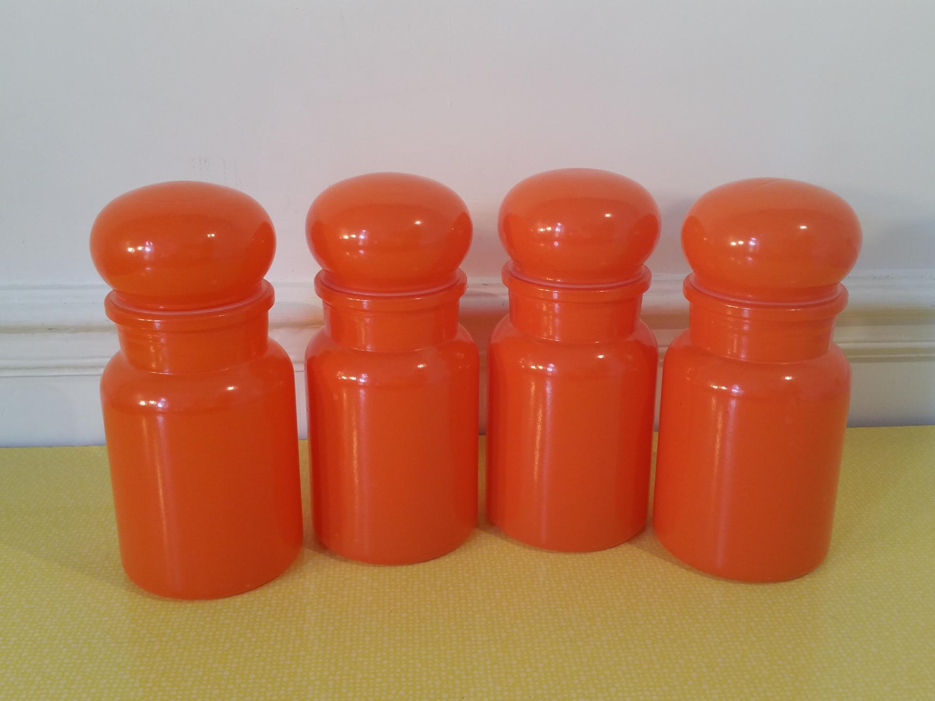 2 serie de pots orange