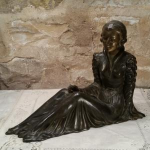 2 statue femme art deco