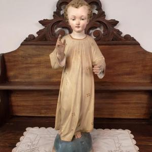 2 statue religieuse enfant