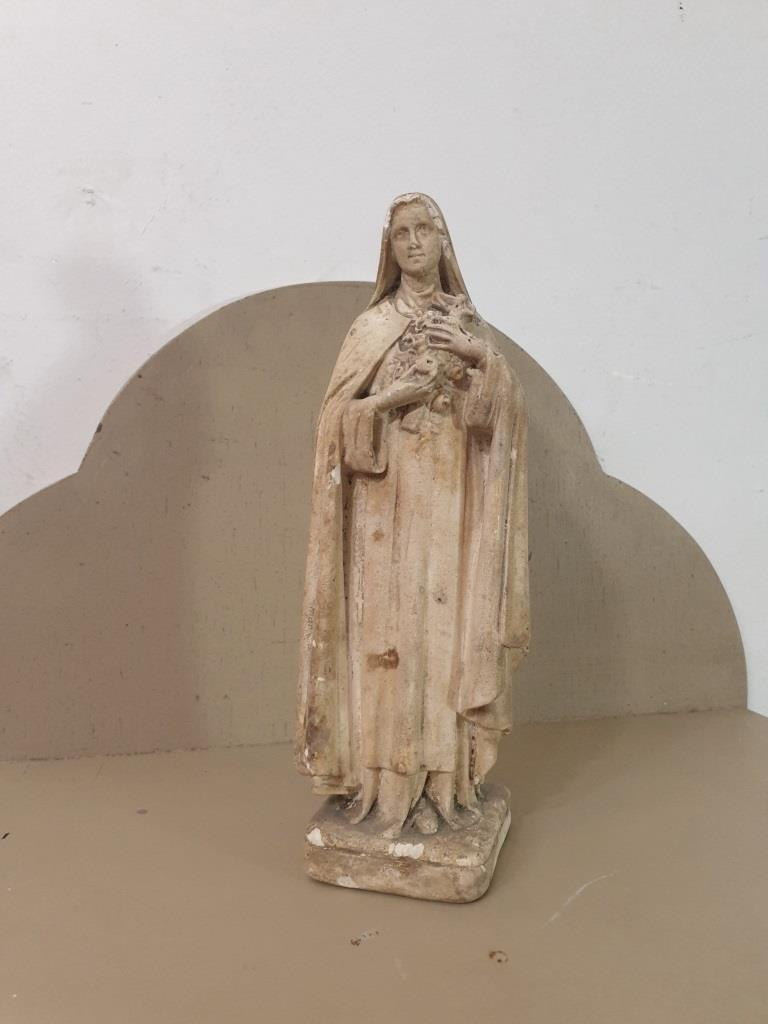 2 statue vierge marie poly