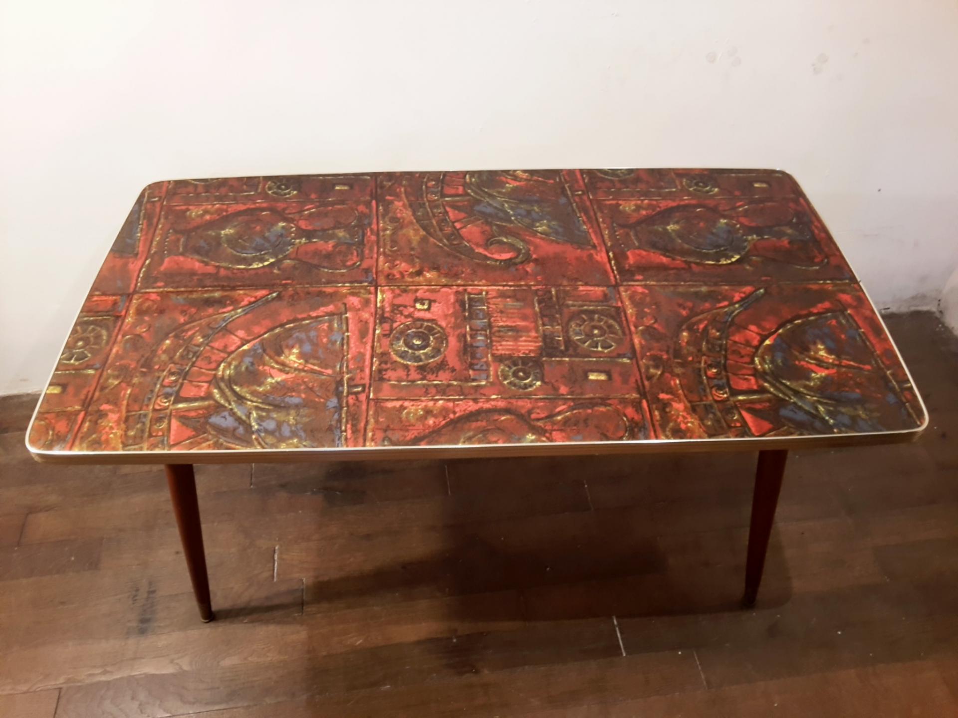 Table Basse En Formica table basse vintage en formica et pieds compas