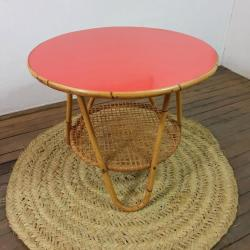 2 table basse formica rouge 1