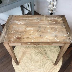 2 table d appoint bois naturel brut