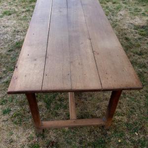 2 table de ferme avec bancs