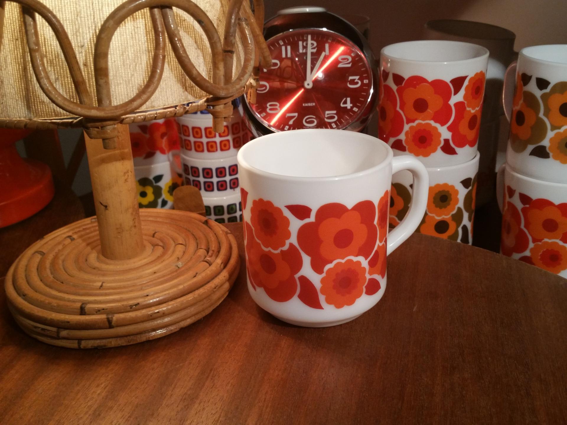 2 tasse mug lotus rouge
