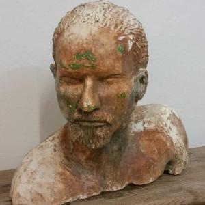2 tete d homme sculpture