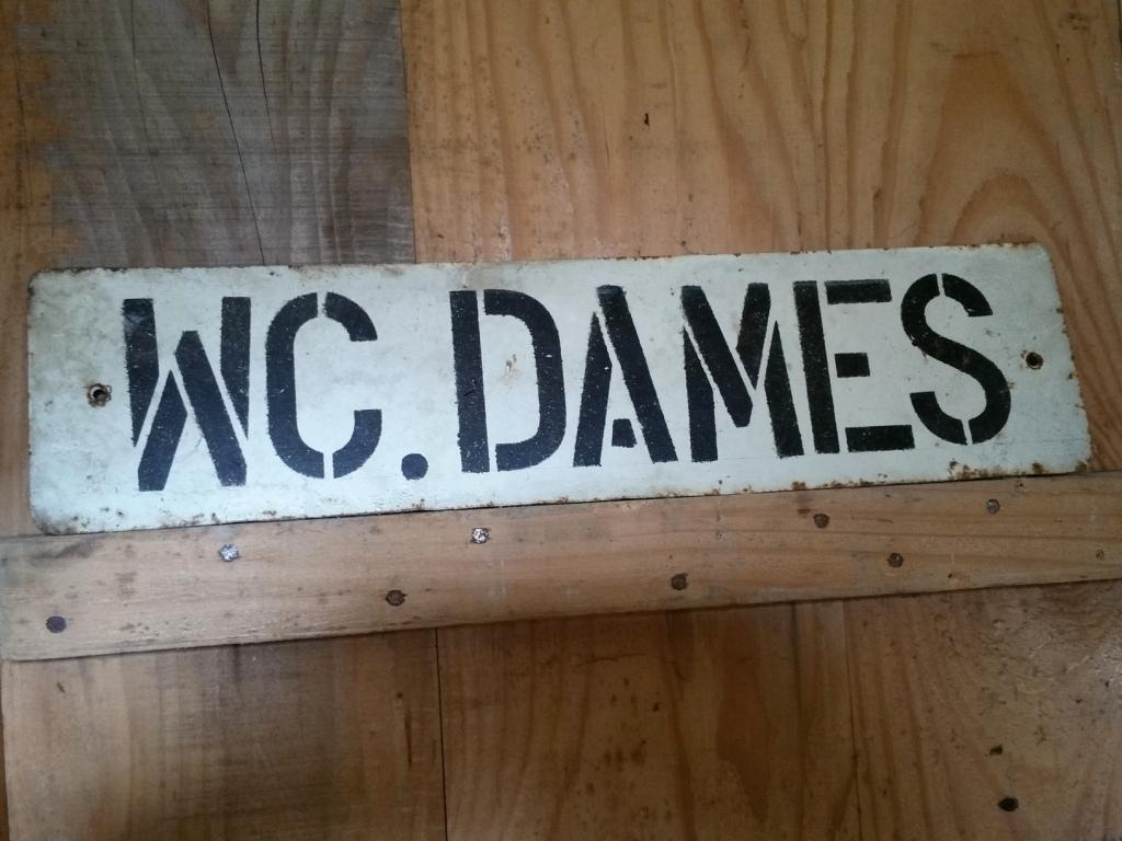 2 toles wc dames hommes