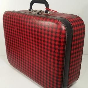 2 valise ecossaise rouge