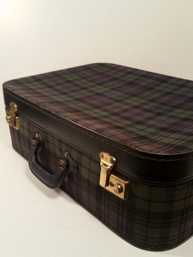 2 valise ecossaise violet