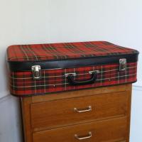 2 valise tissu ecossais