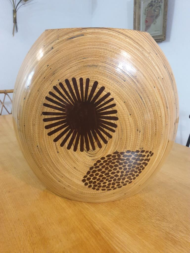 2 vase en bambou
