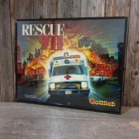 2 vitre de flipper rescue 911