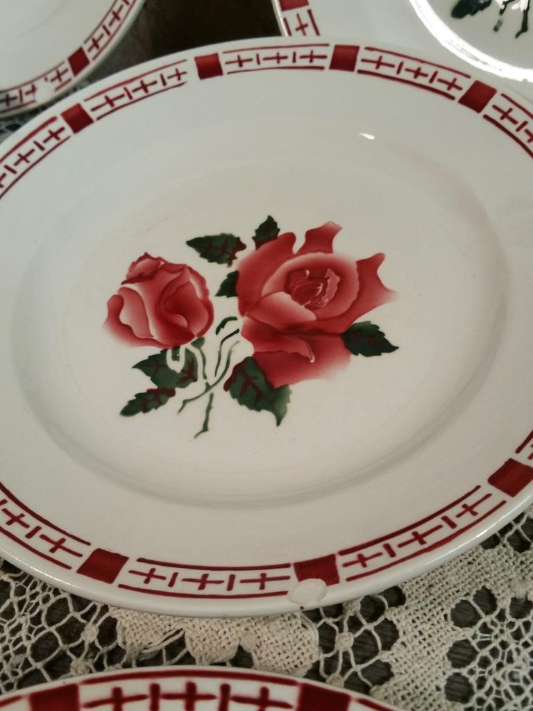 3 6 assiettes plates saverne chocs