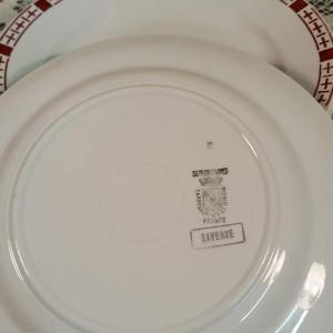 3 6 assiettes plates saverne