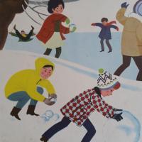 3 affiche hiver boule de neige hiver