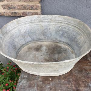 3 bassine oval en zinc