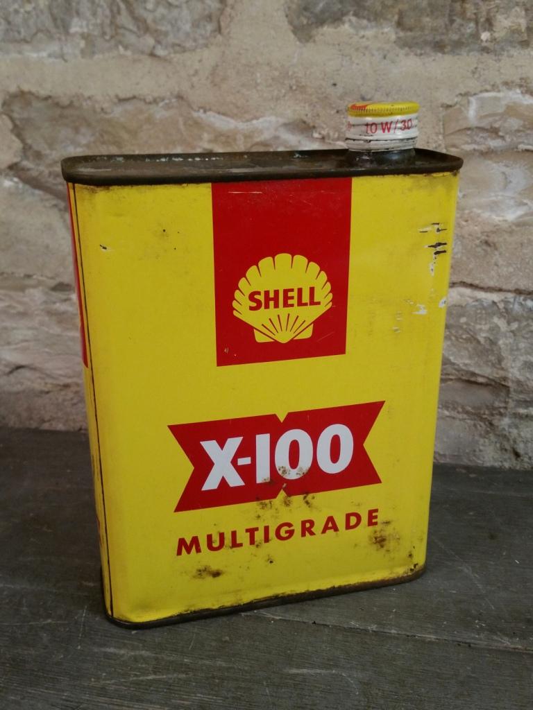 3 bidon huile shell x100