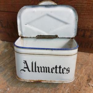 3 boite allumettes emaillee
