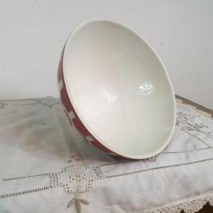 3 bol blanc et bordeaux