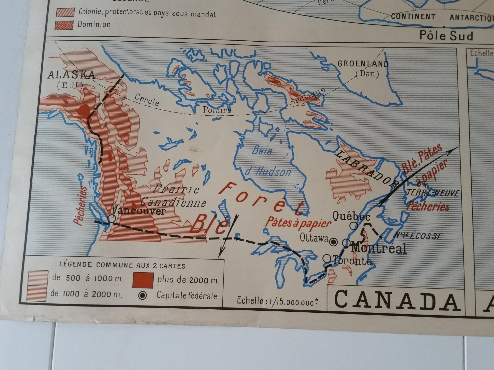 3 carte union francaise empire britanique canada australie