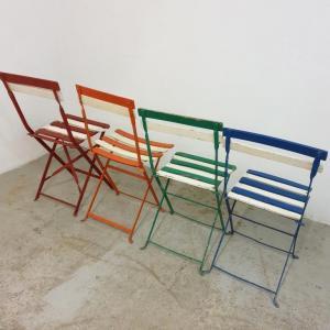 3 chaises de guinguettes
