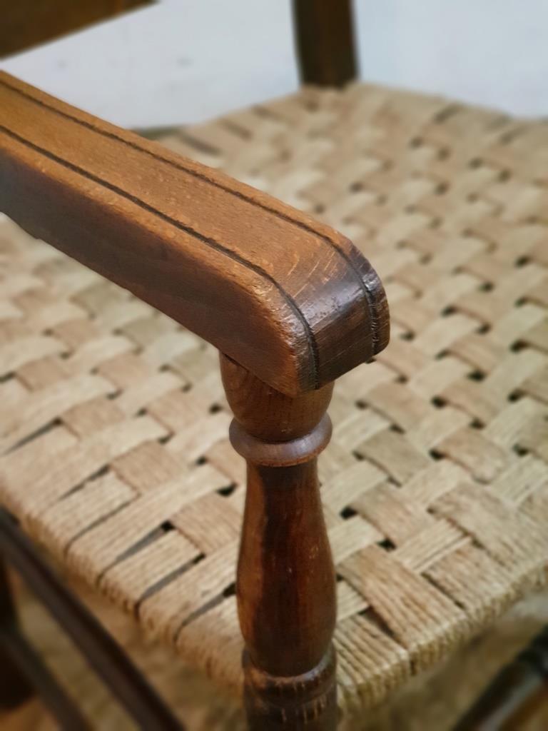 3 fauteuil bois corde