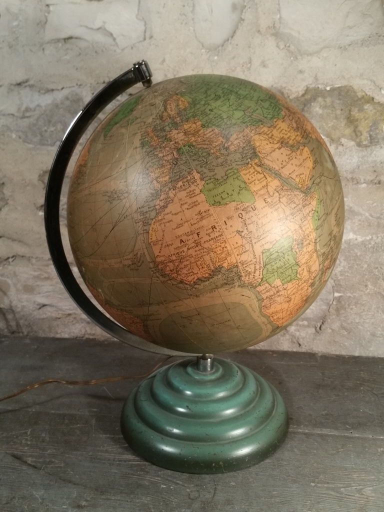 3 globe terrestre lumineux perrina