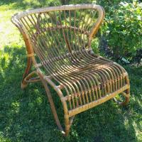 3 grand fauteuil en osier