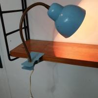 3 lampe cocotte pince bleue