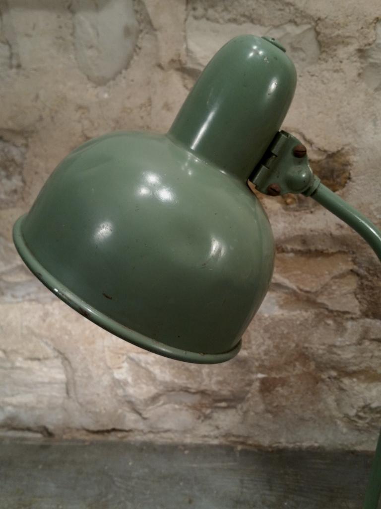 3 lampe de bureau verte