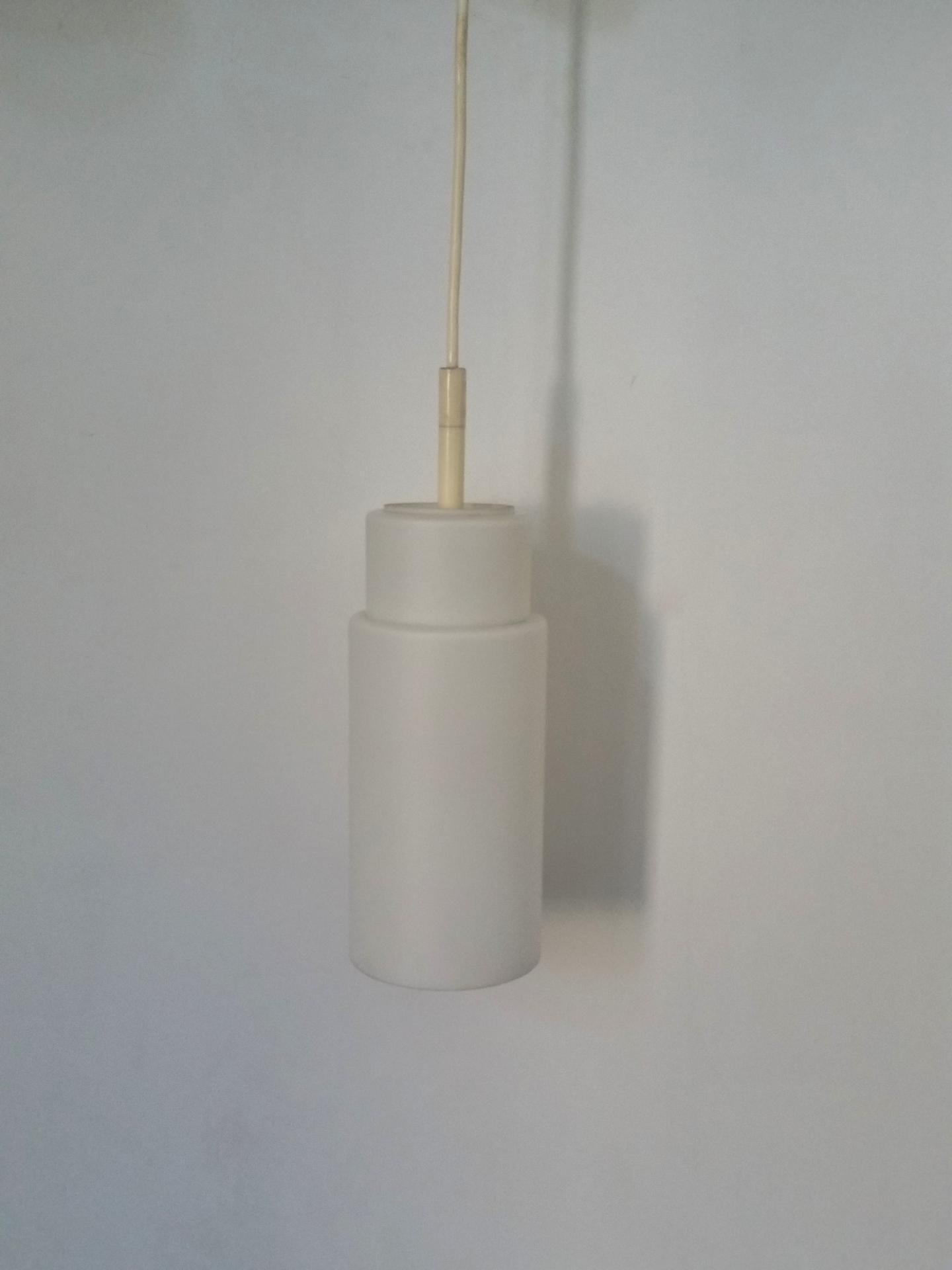 3 paire de suspension opaline blanche