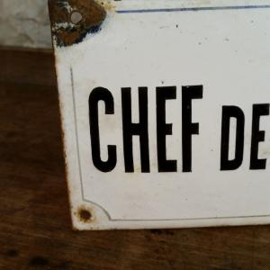 3 plaque chef de section