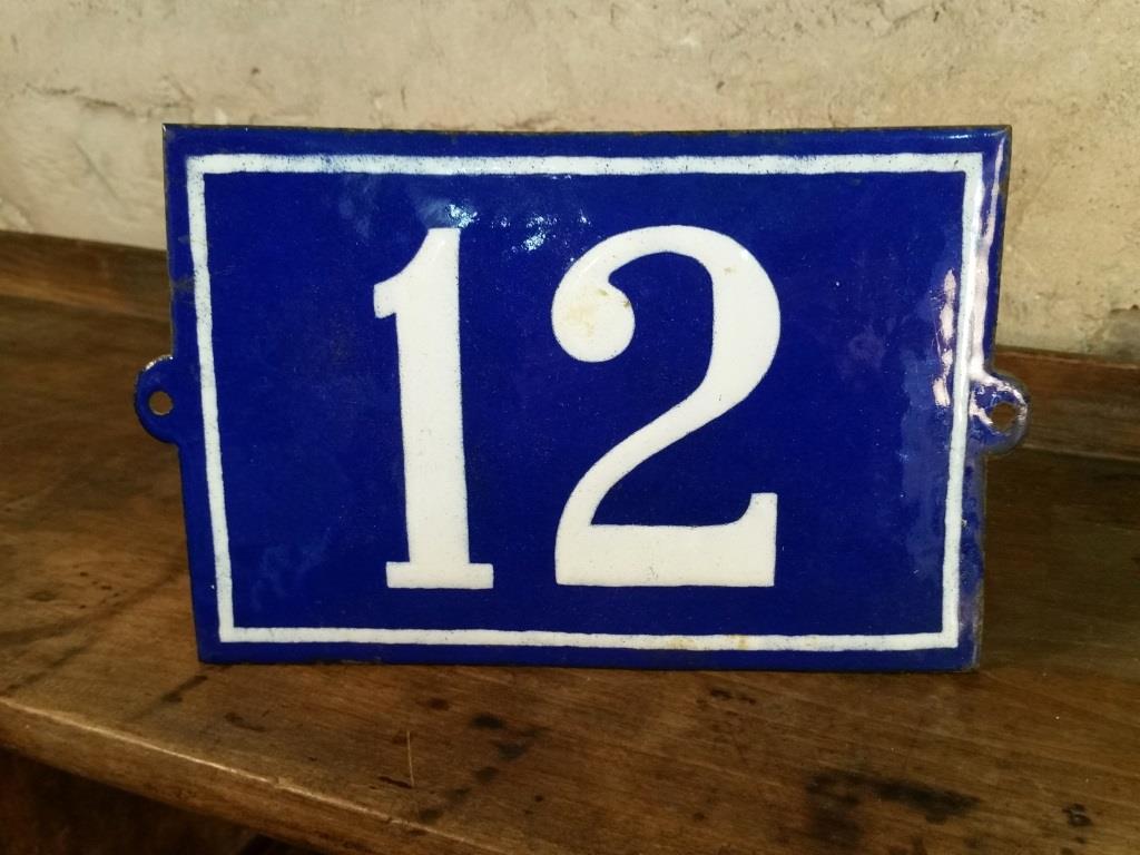 3 plaque de n de rue n 12