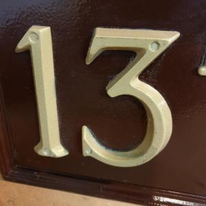 3 plaque de rue 13bis