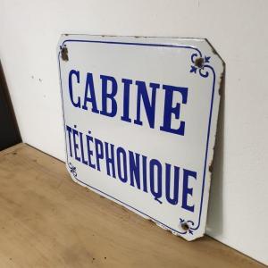 3 plaque emaillee cabine telephonique