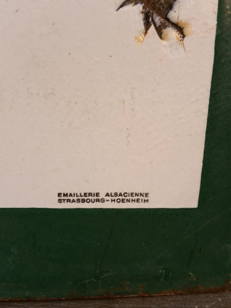 3 plaque emaillee valentine