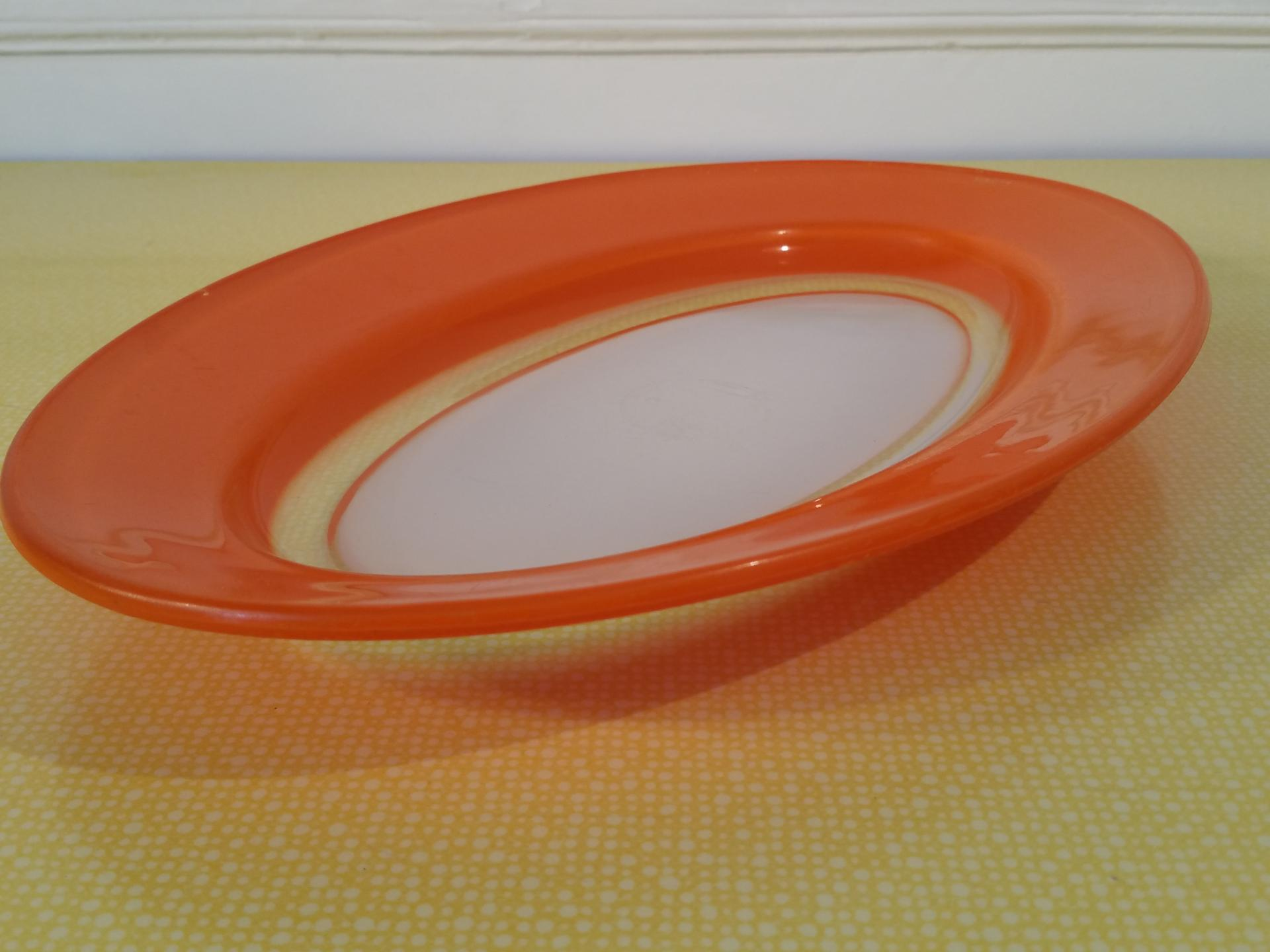 3 plat oval orange
