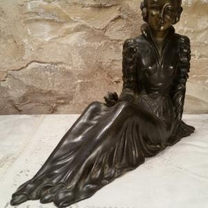 3 statue femme art deco