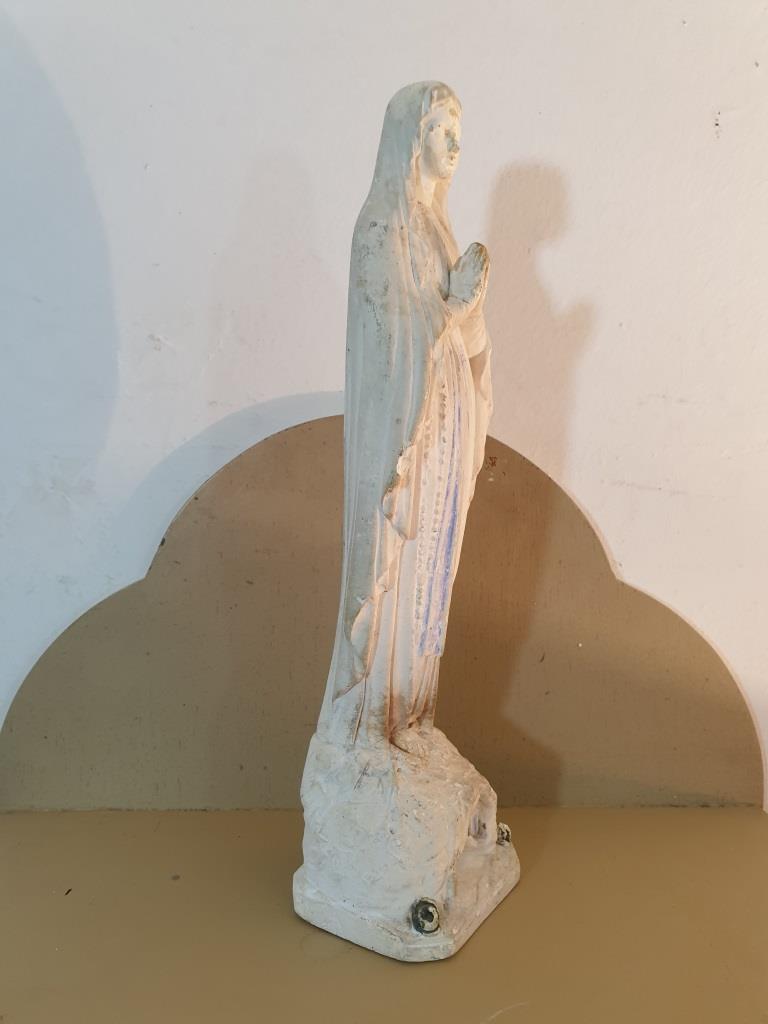 3 statue vierge marie blanche