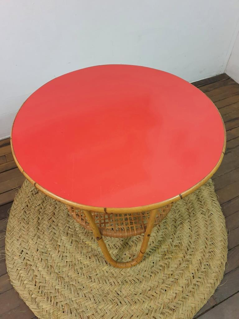 3 table basse formica rouge 1