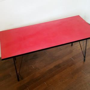 3 table basse formica rouge