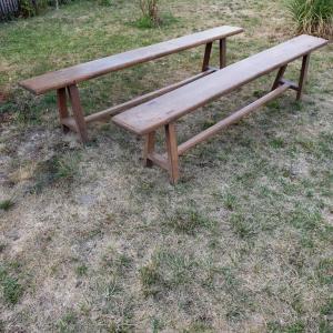 3 table de ferme avec bancs