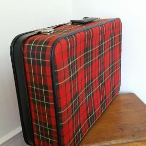 3 valise tissu ecossais